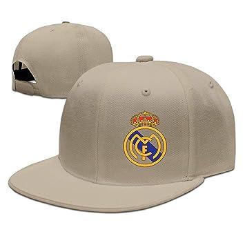 Amazon.com : GlyndaHoa Runy Custom Real Madrid Club De F¨²tbol Logo Adjustable Baseball Hat/Cap Natural : Sports & Outdoors