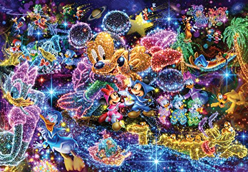 Tenyo (DS-771) Disney Stained Art Wishing to Starry - Jigsaw Puzzles 1000 Piece Disney