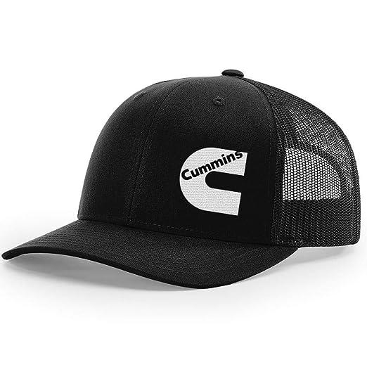 64f8d3fc292 Cummins Diesel Snapback Trucker Hats 112 (Black Black) at Amazon ...