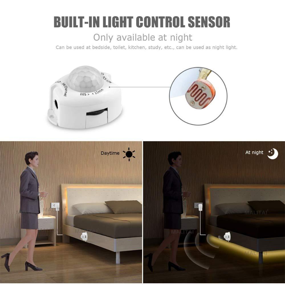 Encendido automático Encendido/apagado Luces LED DC 12V ...