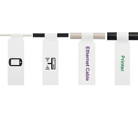 Mr-Label (10 hojas, 300 etiquetas) A4 etiqueta autoadhesiva por cable -