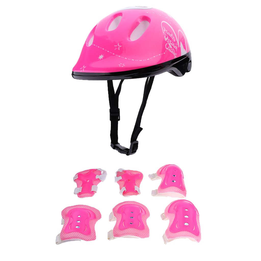 Perfeclan 7 Pieces Outdoor Sports Protective Gear Set Knee /& Elbow /& Wrist Pad /& Helmet Boys Girls Cycling Adjustable Helmet Safety Pads Set