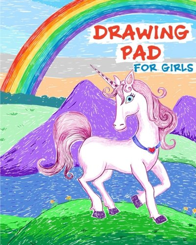 Drawing Pad for Girls: Rainbows and Unicorns Sketch Book with Blank Drawing Paper for Girls: Top Gifts for Ages 5, 6, 7, 8, 9, and 10 Year Olds 3