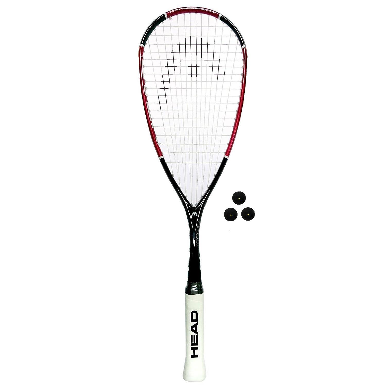 HEAD Nano Ti 110 Squash Racquet (Various Options) Racket + 3 Balls  B07FNTL986