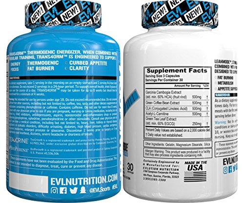 Evlution Nutrition EVL Trans4ormation Mode Stack Trans4orm and Lean Mode (30 Servings)