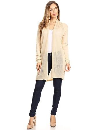 193189354a Anna-Kaci Womens Oversized Long Sleeve Knit Open Front Drape Cardigan  Sweater
