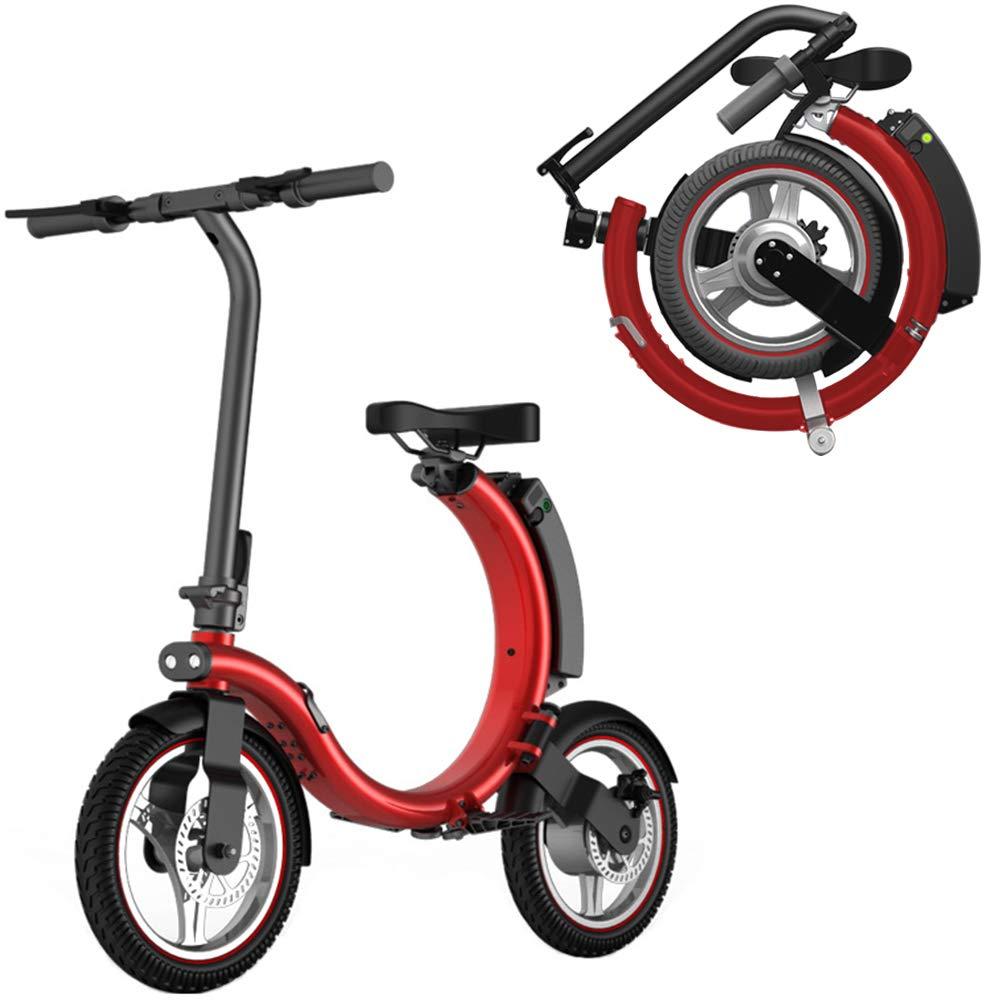 las mejores marcas venden barato rojo GYFY Bicicleta Plegable pequeña Bicicleta eléctrica eléctrica eléctrica de Litio Ayuda para Viajes Adultos Bicicleta,verde  compras en linea