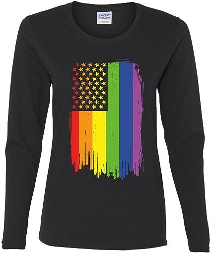 Distressed Gay Pride Rainbow Flag Hoodie LGBTQ Love Wins