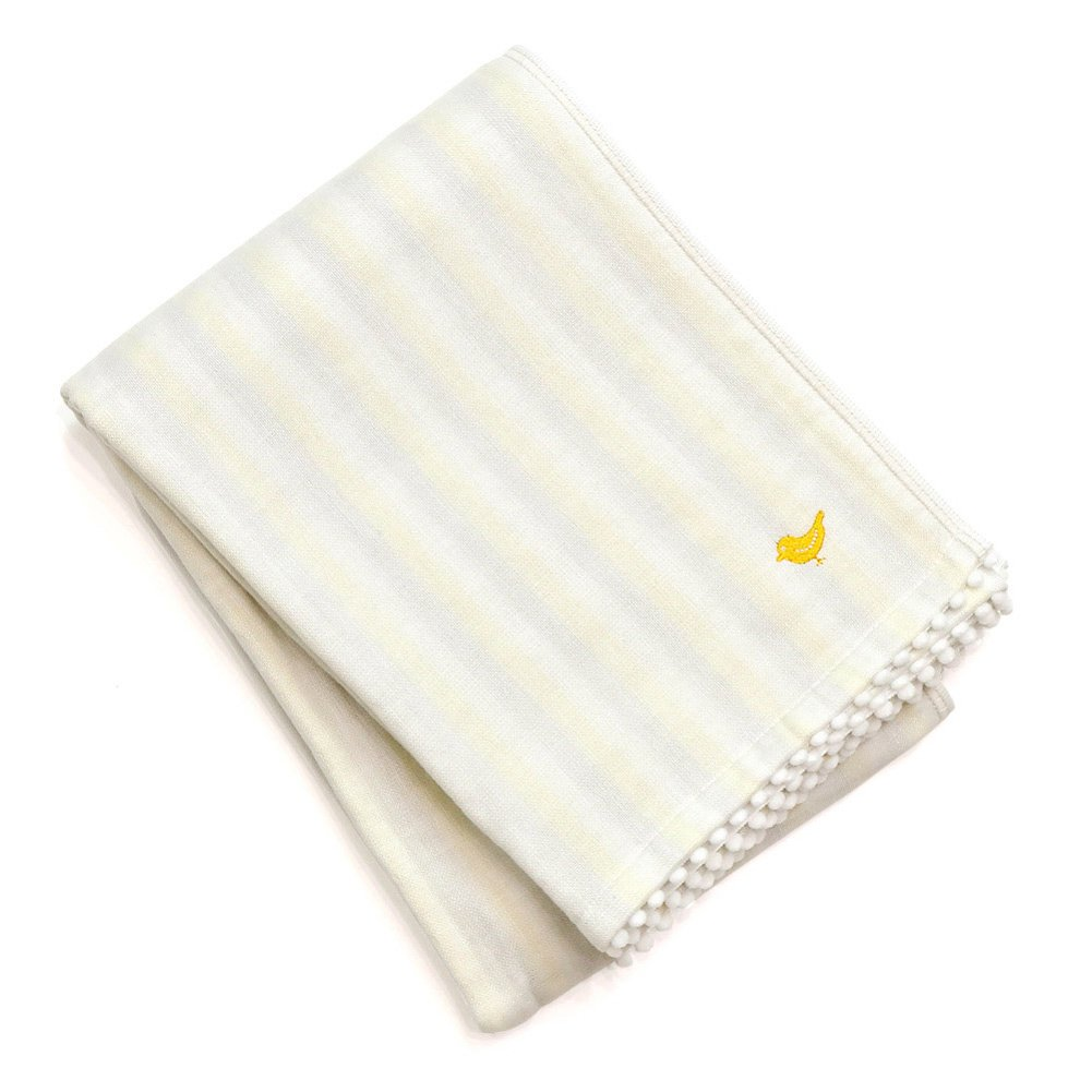 Iori Baby Stripe Bath Towel - Yellow Imabari Towel