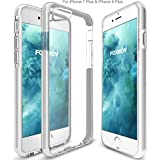 FOXNOV iPhone 8 Plus Case, iPhone 7 Plus Case, iPhone 7 Plus / iPhone 8 Plus Shock Absorption Case Crystal Clear Cover Slim Soft Touch Durable Protective TPU Case with Bumper (White)