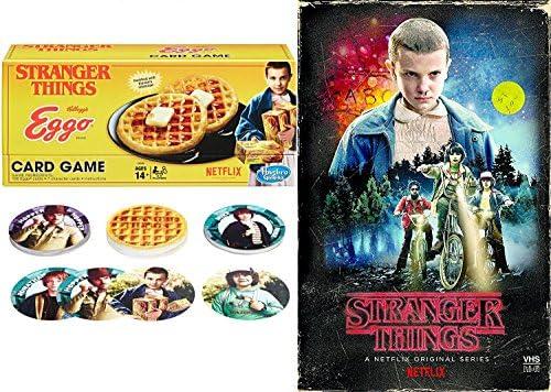 Stranger Things Exclusive Game Set Season 1 DVD Blu Ray VHS Box Edition + Kellogs Eggo Gard Game - Special Edition Bundle: Amazon.es: Juguetes y juegos
