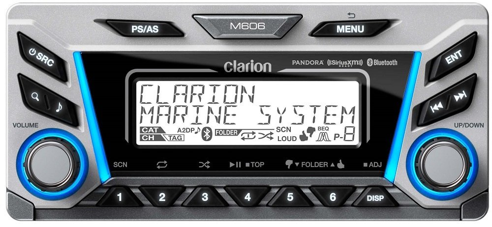 612sheidRjL._SL1000_ amazon com clarion m606 marine audio radio car electronics  at bakdesigns.co