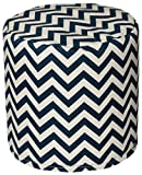 HRH Designs HRH-C018  Indoor/outdoor Chevron Beanbag Pouf, 17''