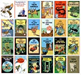 Tintin Comic Strip Books Set - A Collection of 23 Full Sized Books