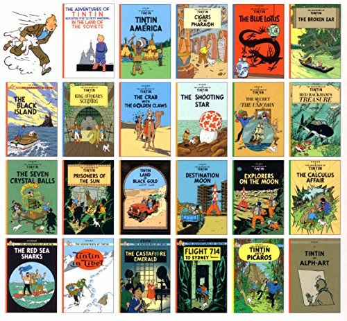 Tintin Comic Strip Books Set - A Collection of 23...