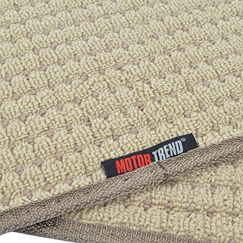 Beige BDK MT302BG Premium Thick Plush Carpet Car Van SUV /& Truck-Heavy Duty Woven Berber Style Floor Mat-4 Piece