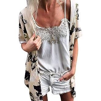 20c8c4ced3d80 #12 Plus Size Cardigan, QIQIU Women Boho Floral Print Loose Summer Fashion  Blouses Beach Cover Up