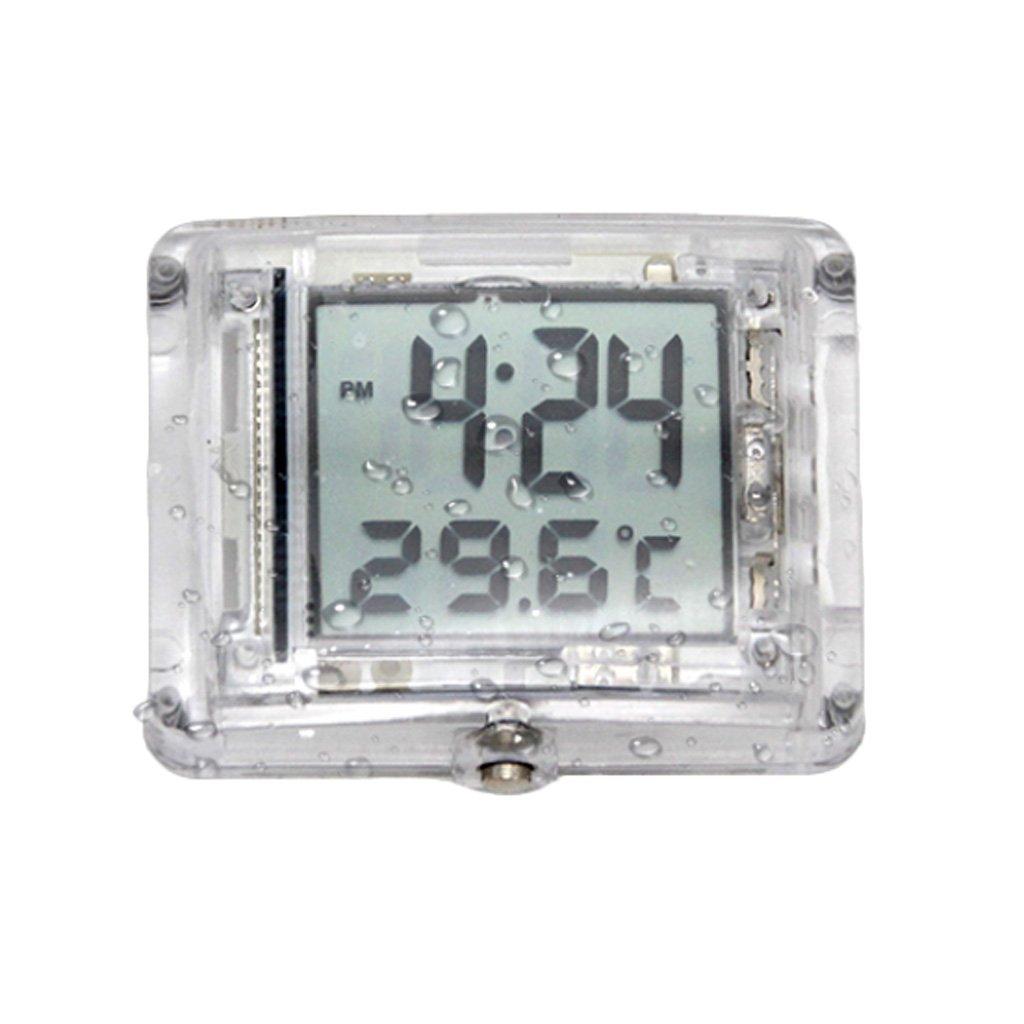 Homyl Mini Horloge Numé rique Montre de Tempé rature De Moto