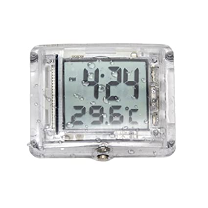 B Blesiya Temperatura del Reloj del Reloj Digital De La Motocicleta Luminosa De Destello para La