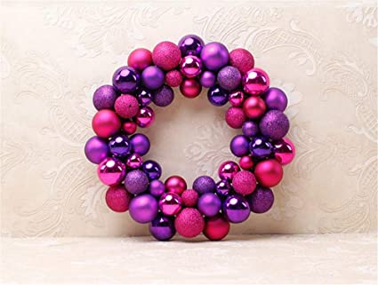 Christmas Ball Garland.Amazon Com Atoly 55 Piece Set Rose Purple Ball Garland