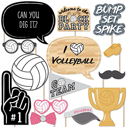 - Big Dot of Happiness Bump, Set, Spike - Volleyball - Photo Booth Props Kit - 20 Count