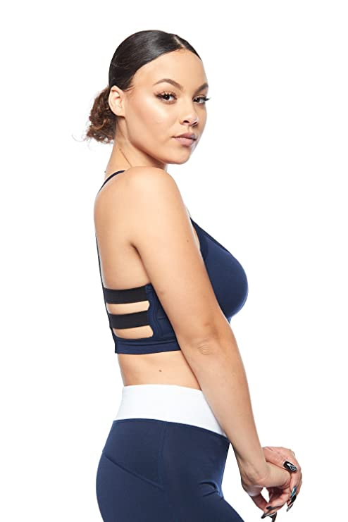 610722112a Womens Fashion Sexy Solid Caged Back Sports Bra NT-6598 at Amazon Women s  Clothing store