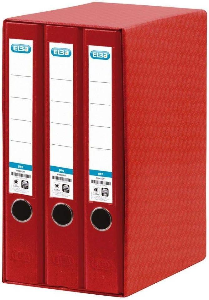 Elba Rado Top - Módulo 3 archivadores estrechos, color rojo ...