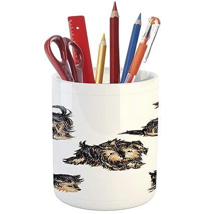 Portalápices de cerámica con diseño de yoga, para escritorio ...