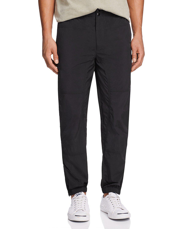 T by Alexander Wang Men's Nylon Piped Pants (Black, Small)