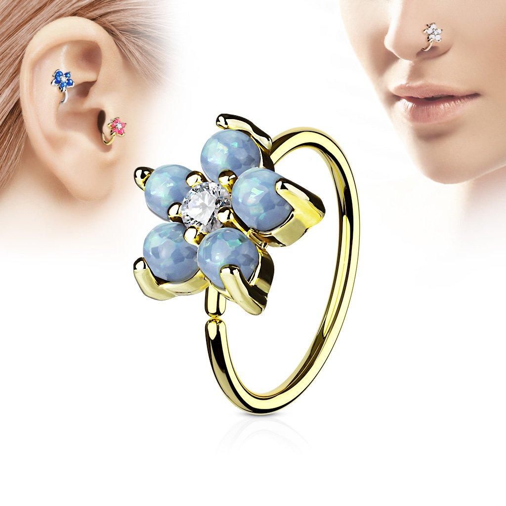 Tapsi´s Coolbodyart® Fingerring aus Edelstahl 3 fach Seil silber mit gold platin