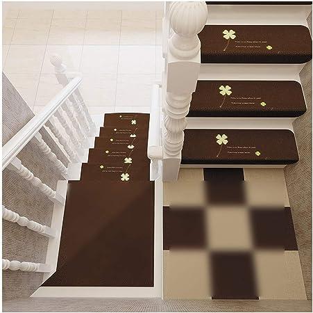GYL Alfombras de escalera Alfombrilla for Escalera, Alfombrilla Antideslizante, Lavable Y Extraíble Alfombra Sin Adhesivo Autoadhesivo Pegatinas de Escalera de Madera Maciza Alfombras para escaleras: Amazon.es: Hogar