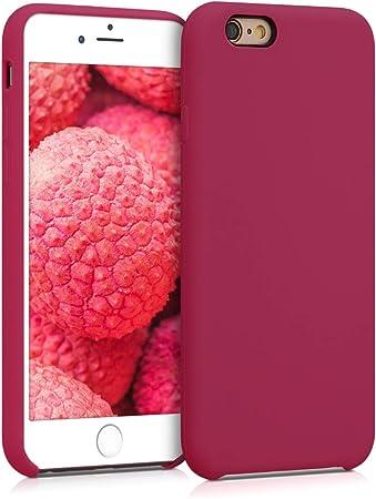 Kwmobile Hülle Kompatibel Mit Apple Iphone 6 6s Handyhülle Gummiert Handy Case In Fuchsia Rot Elektronik