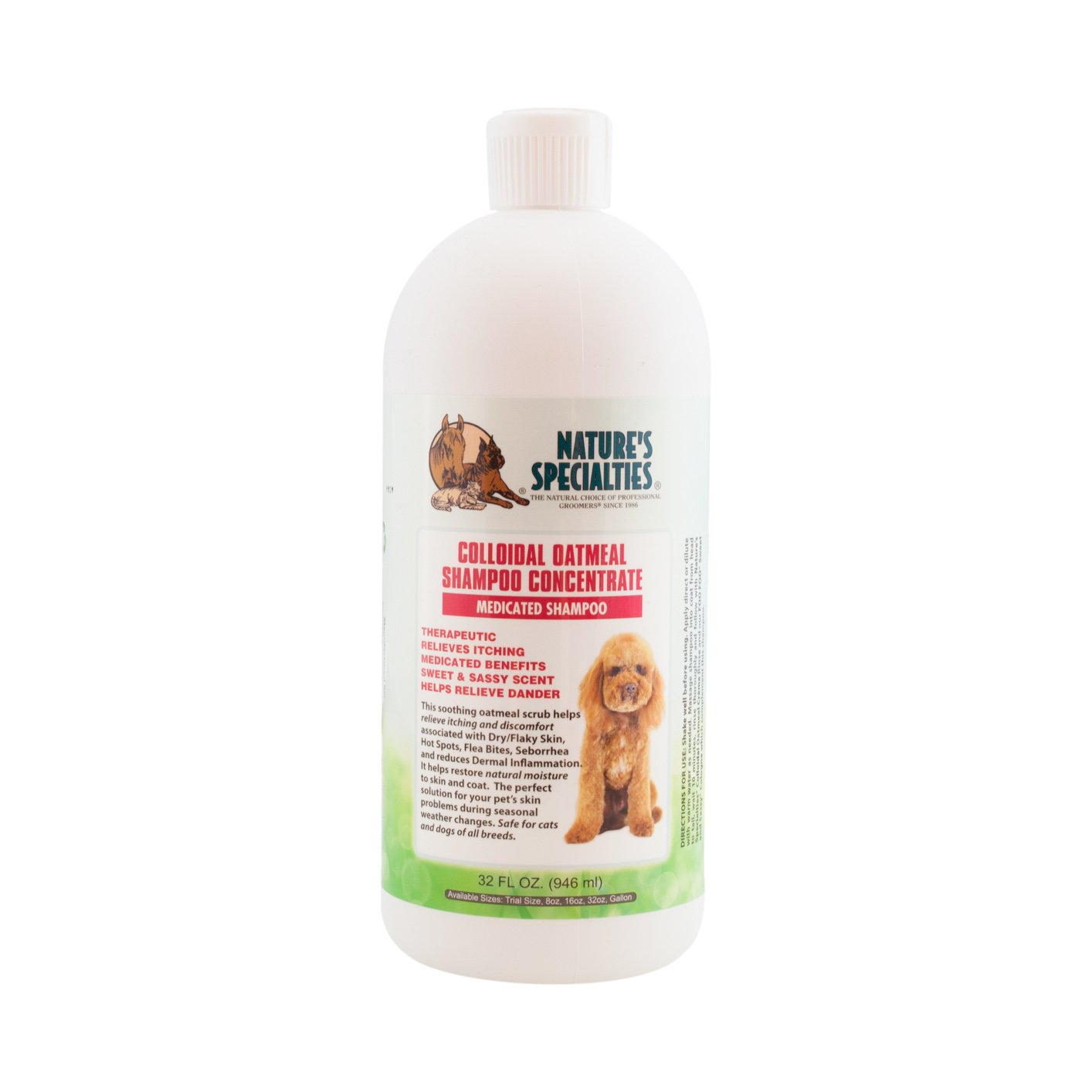 Nature's Specialties Colloidal Oatmeal Pet Shampoo, 32-Ounce
