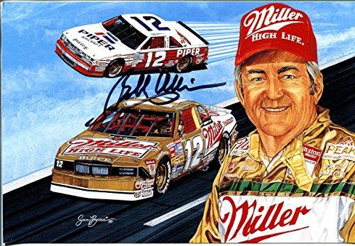 (Bobby Allison Hero Card-NASCAR-autographed-#12 Miller Buick-Sam Bass-1988-VF)