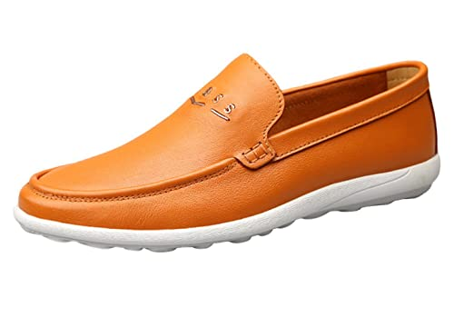 SK Stutio Hombre Mocasines de Cuero Casual Loafers Moda Negocio Zapatos de Conducción Zapatillas Planos Slip On: Amazon.es: Zapatos y complementos