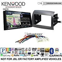 Volunteer Audio Kenwood DNX874S Double Din Radio Install Kit with GPS Navigation Apple CarPlay Android Auto Fits 2004-2010 Non Amplified Toyota Sienna