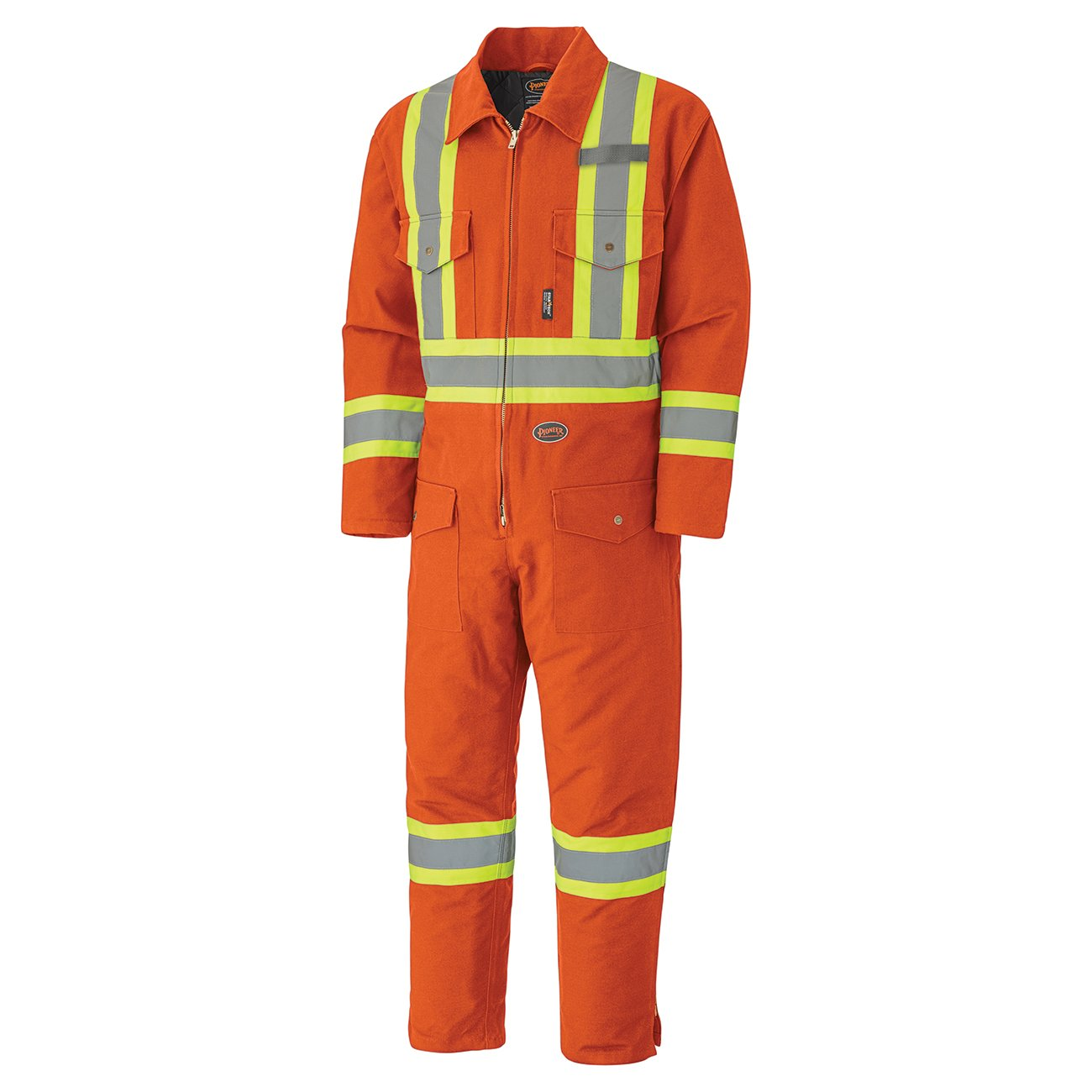 Pioneer V206095A-L Insulated Heavy-Duty Work Coverall, Hip-to-Ankle Zipper - Cotton Duck, Navy, L V206098A-L
