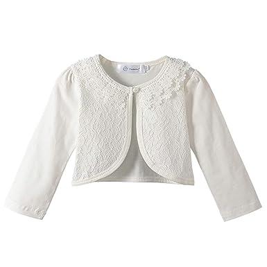 8428dc276 Acecharming girls Beaded Flower Bolero Jacket Shrug Short Cardigan Dress  Cover Up