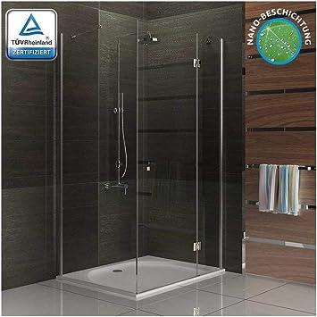 Cabina de ducha mampara incluido de cristal acabado 100 x 80 x 195 ...