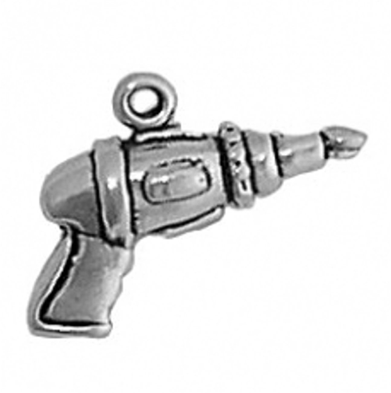Sterling Silver 24'' Boys 1.2mm 3D Ski Boot Handheld Electric Drill Tool Pendant Necklace