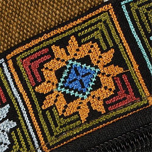 RFVBNM Canvas National Tribal ethnisch bestickt Floral Rucksäcke Women es Travel Rucksack Schule Schultertasche 45 * 36 * 19cm