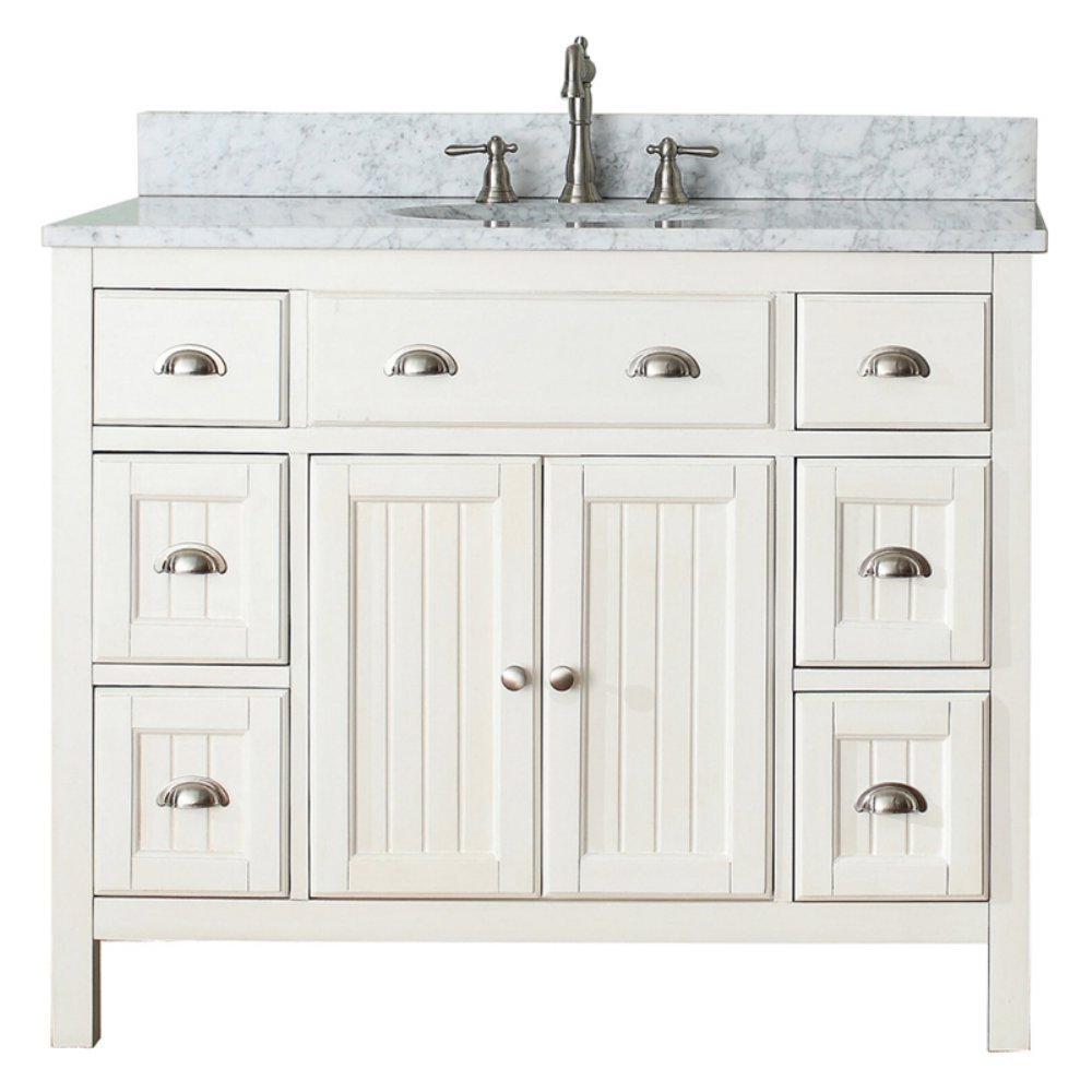 Avanity Hamilton 42 in. Vanity Combo in French White finish
