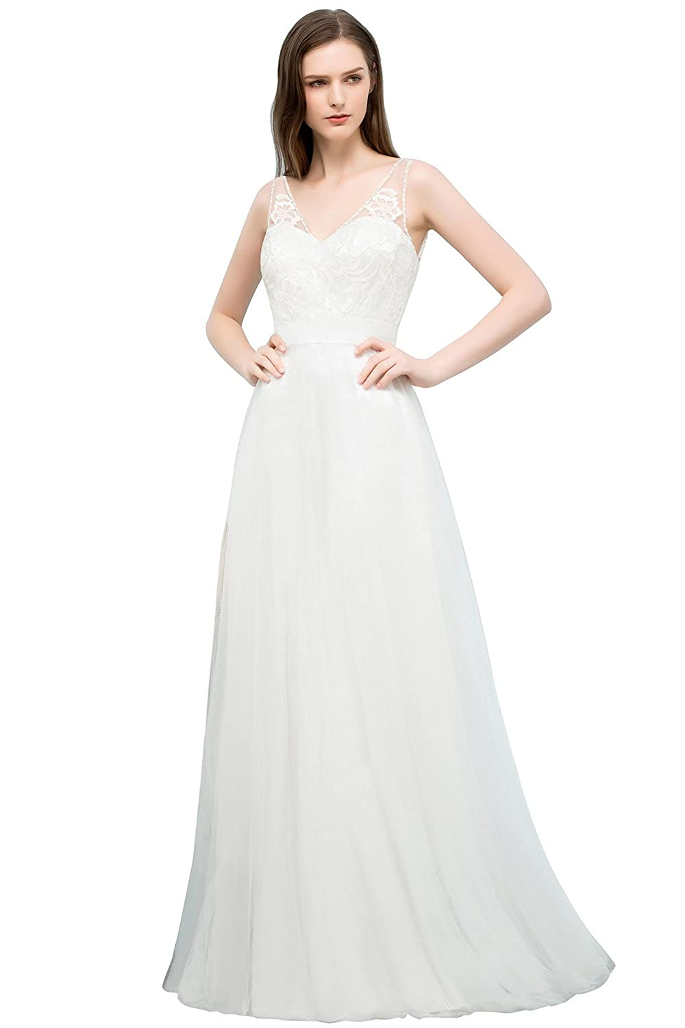 2df675807d6 Women 2018 Informal Wedding Dress for Bride Guest Simple Gown at Amazon  Women s Clothing store