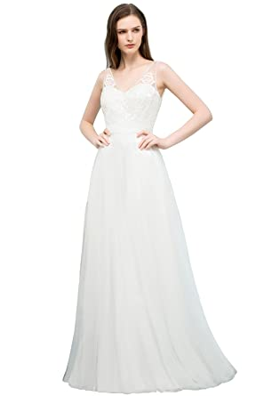 14cbf41aafa Women 2018 Informal Wedding Dress for Bride Guest Simple Gown at Amazon  Women s Clothing store