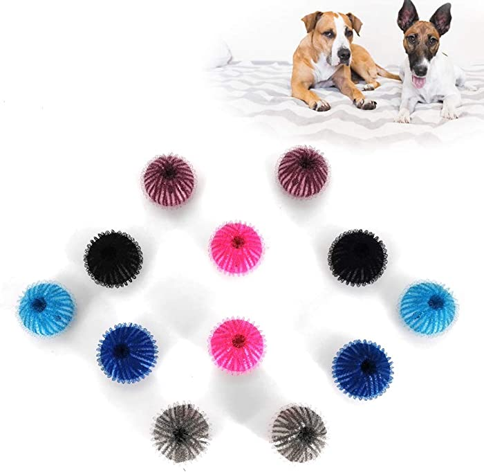 NEW Pet Hair Remover for Laundry - baycheers Reusable with Remove Hair from Dogs and Cats - 12 Pcs