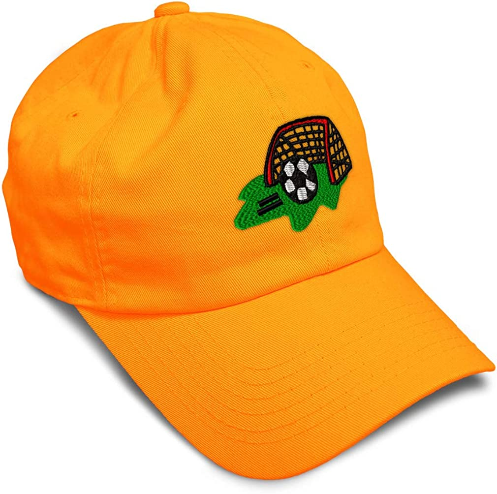 Custom Soft Baseball Cap Soccer Field B Embroidery Dad Hats for Men /& Women