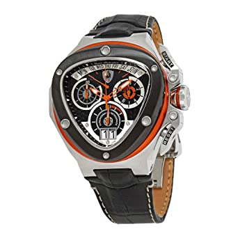 Amazon Com Tonino Lamborghini Spyder Black Dial Men S Watch 3005