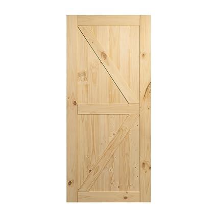 Amazon Belleze 36in X 84in Sliding Barn Wood Door Unfinished