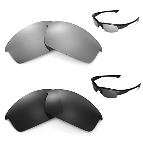 01eb77221e376 Image Unavailable. Image not available for. Color  Walleva New Polarized  Black + Titanium Lenses ...