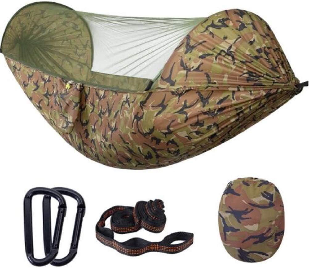 Hamaca exterior resistente a los mosquitos para acampar al aire libre para 2 personas tienda de campaña, hamaca interior con columpio, hamaca de jardín, viaje, caza, etc. Carga 230 kg, (290 * 140 cm)